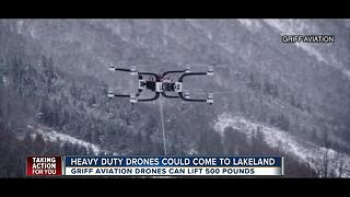 Heavy load drone maker planning to setup shop in Lakeland - Video