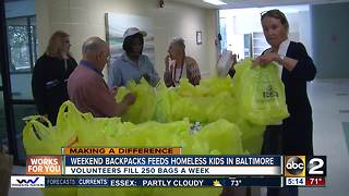 Weekend Backpacks provides meals for homeless kids in Baltimore City Schools - Video