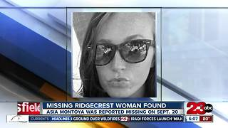Missing Ridgecrest woman found - Video