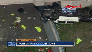 Fallen officer crash raises questions about police pursuit policy