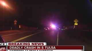 One person is dead after car crash on Creek Turnpike - Video