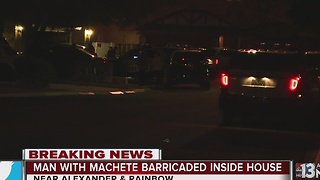 Person with machete in custody after barricade - Video