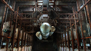 Two impressive space shuttle explorers spotted inside abandoned building  - Video