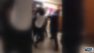 Massive fight at Milwaukee's Riverside High School captured on camera - Video