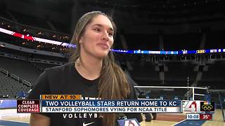 2 locals compete in NCAA volleyball championship - Video
