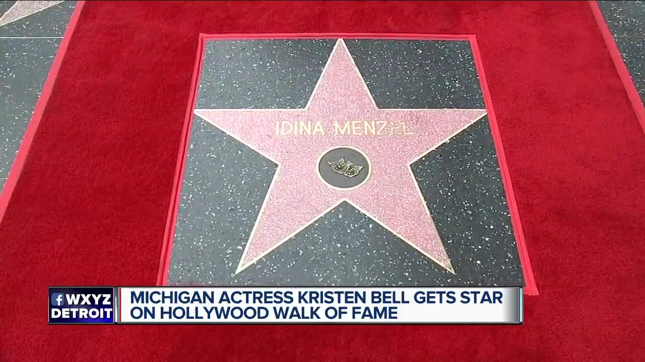 Michigan actress Kristen Bell gets star on Hollywood Walk of Fame