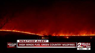 Eight different fire departments battle Washington County wildfire into the night - Video