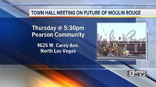 Town hall meeting to dicuss Moulin Rouge - Video