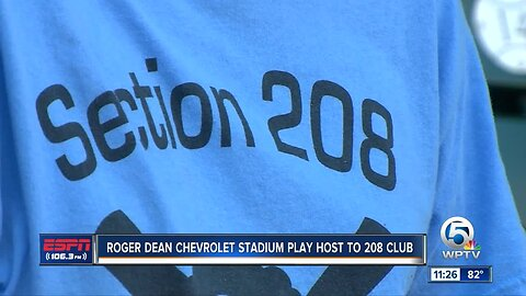 Roger Dean Chevrolet Stadium hosts the Section 208 club