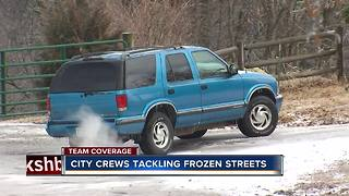 City crews tackling frozen streets - Video