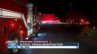Arson investigated at Del Mar school - Video