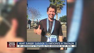Heart surgery survivor to participate in St. Anthony's triathlon - Video