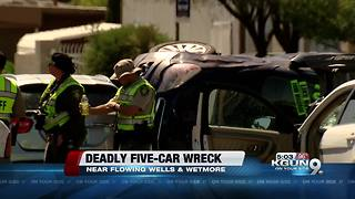 Five-car fatal wreck shuts down Wetmore and Flowing Wells - Video