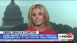 Former Clinton SPOX Claims Donna Brazile Lied That Hillary Wanted Control Over DNC During Primary - Video