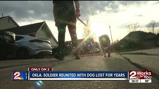 Oklahoma soldier reunited with dog lost for years