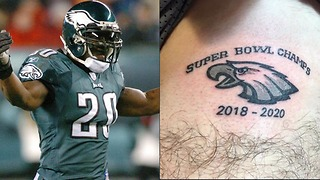 Eagles Fan Pretty Much CURSES the Team with Stupid Tattoo - Video