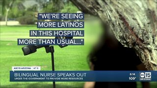 Bilingual nurse speaks out about work conditions