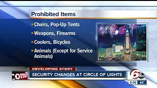 New security measures put in place at annual Circle of Lights celebration - Video