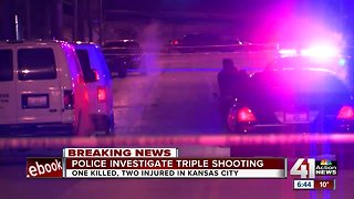 KCPD: Triple shooting leaves 1 dead, 2 injured late Monday night