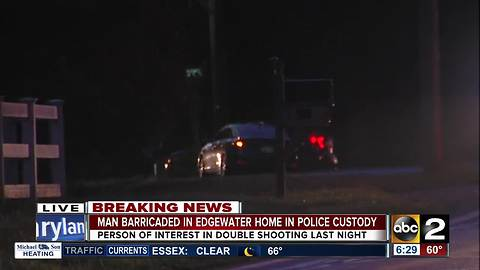 Suspect of double shooting arrested after barricading himself in Edgewater home
