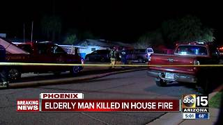 Elderly man killed in overnight house fire in North Phoenix - Video