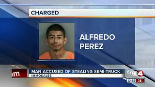 Man Connected to Stolen Semi-Truck - Video