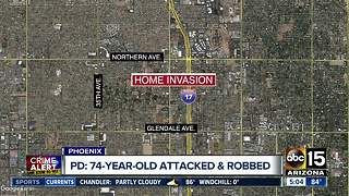 Woman, 74, attacked and robbed during home invasion