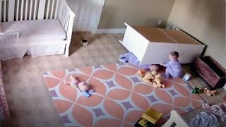 Toddler Saves Brother From Fallen Dresser - Video