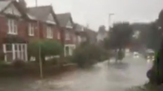 Scarborough Streets Submerged Following Storm - Video