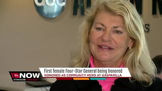 First female Four-Star General being honored - Video