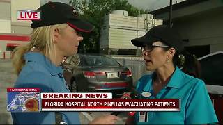 Florida Hospital North Pinellas evacuating patients - Video