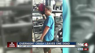 Overnight Crash Leaves one Dead - Video