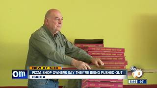 Pizza shop owners say they're being forced out