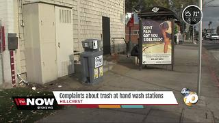 Complaints about trash at wash stations - Video