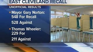 East Cleveland votes to recall Mayor Gary Norton Jr. and City Council President Thomas Wheeler - Video