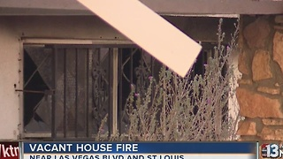 Vacant home goes up in flames - Video