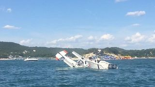 Three Passengers OK After Plane Crashes into Lake Travis - Video