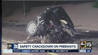 Officials cracking down on safety on freeways - Video