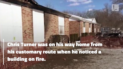 Army Vet Working as Mailman Sprints into Flames Without Hesitation To Save Girl's Life