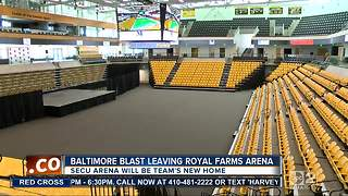 Blast leaving Royal Farms Arena for SECU Arena - Video