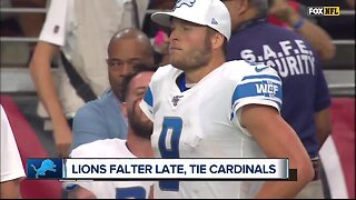 Lions disappointed with overtime tie with Cardinals