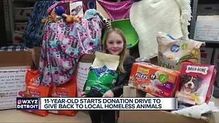 Macomb County 11 year-old helps homeless animals