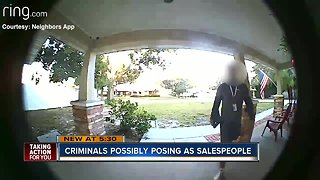 Tampa Police warning neighbors about criminals who pose as sales people