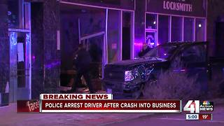 KCPD: Drunk driver crashes into Westport store - Video