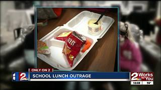 Mom outraged over school lunch