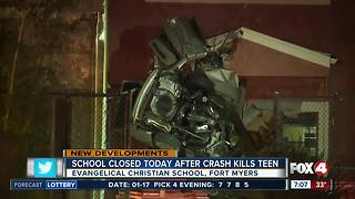 School closed after deadly crash by teen in Fort Myers - Video