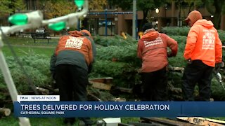Crews are already preparing for the holidays at Milwaukee's Cathedral Park