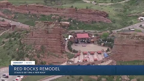 Red Rocks remodel starts on stage roof