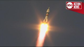Soyuz rocket launches to International Space Station