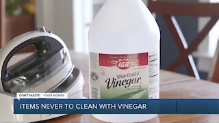 9 things you should never clean with vinegar